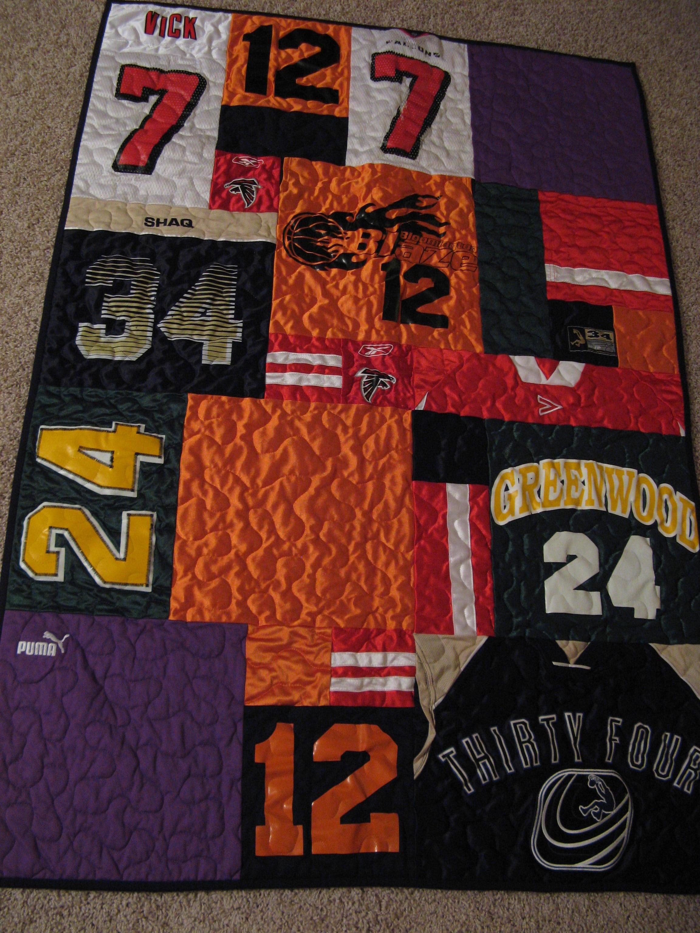 T Shirt And Jersey Quilts Wandalandquilts