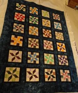 Janet's batik quilt