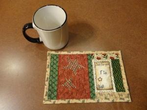mug rug for Flo