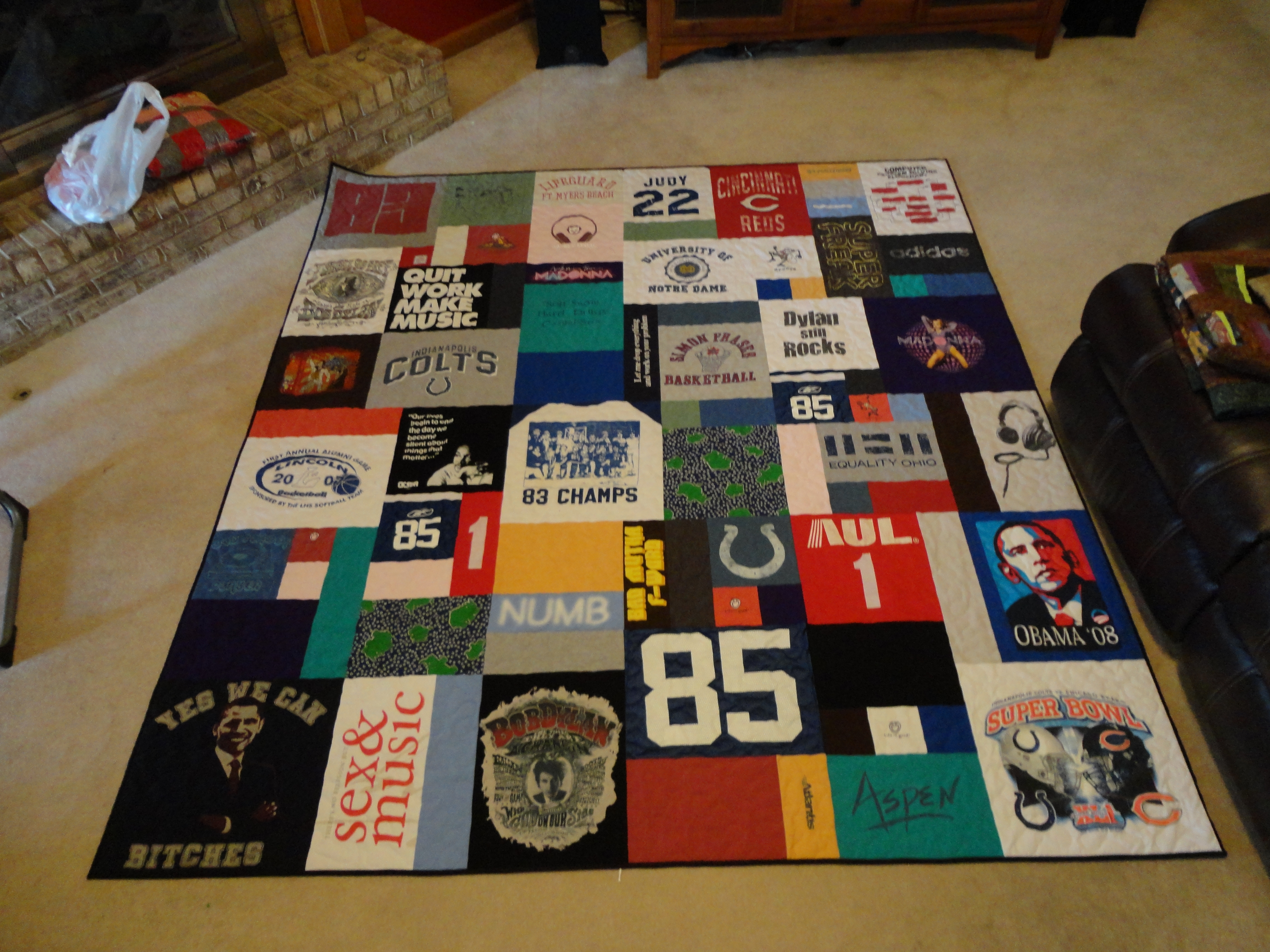 T Shirt And Jersey Quilts Wandalandquilts