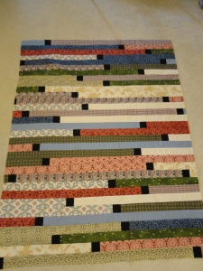 Zippy Strippy Quilt Top