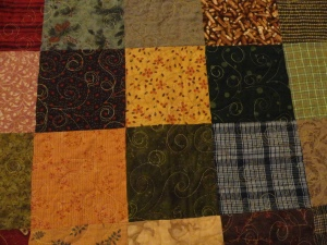 Flannel Sq quilting