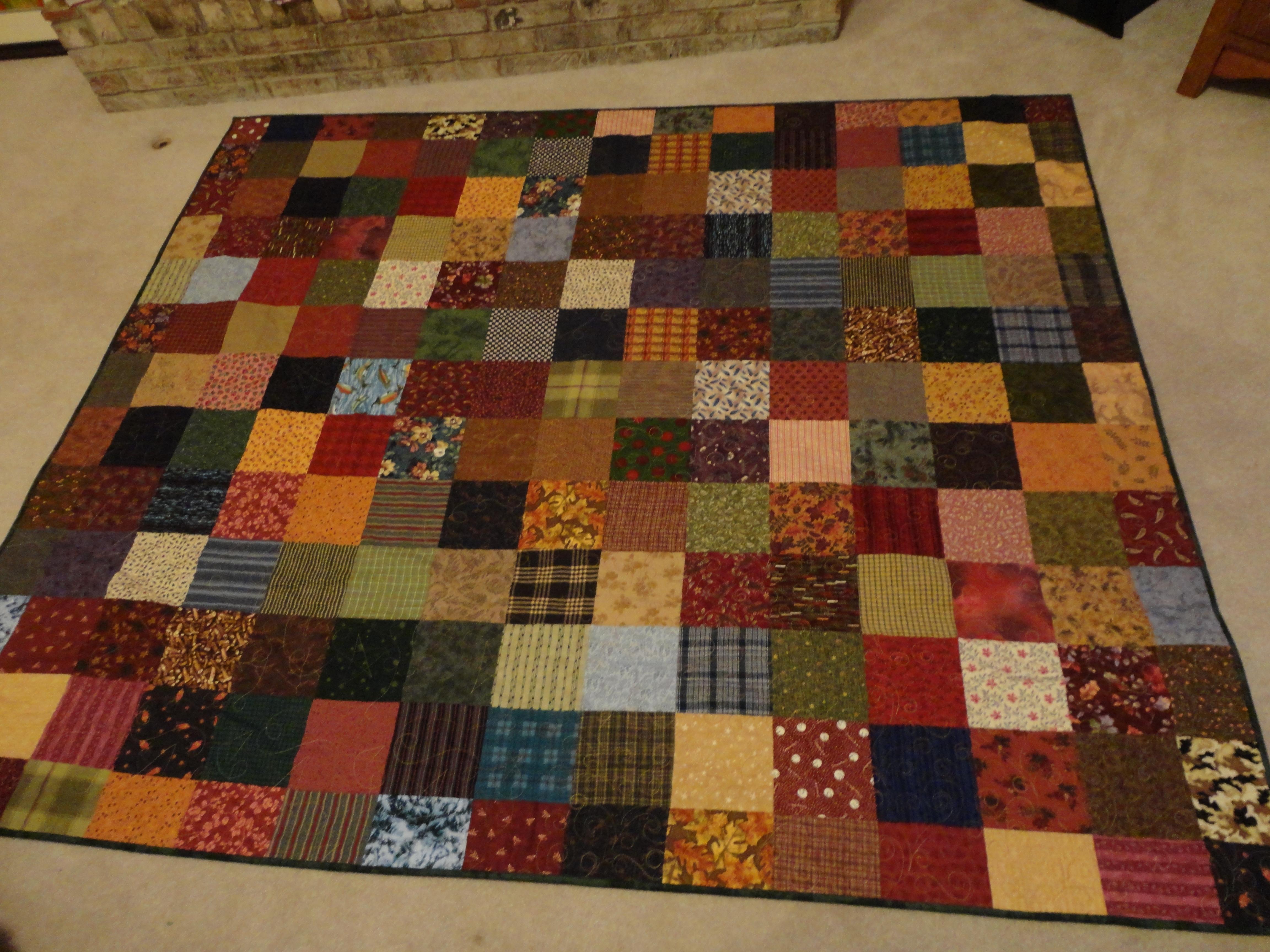 Flannel Square Quilt wandalandquilts