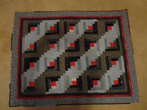 Log Cabin practice quilt