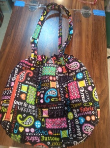 purse with gathered top