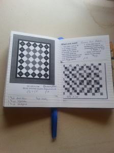 quilting notebook inside