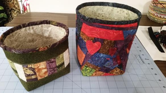 both fabric buckets