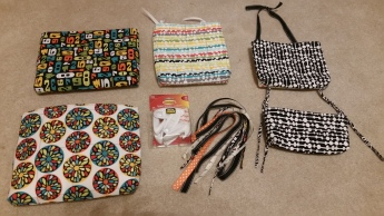 wall pockets - whole set with hangers and ties