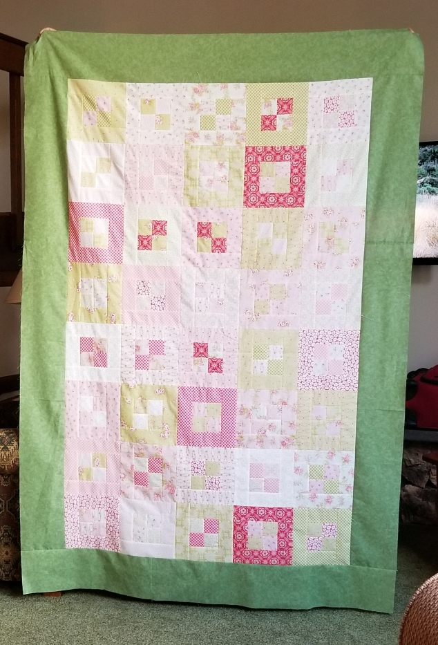 FLR - Green 4-patch Quilt