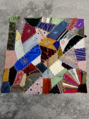 antique crazy quilt block 1