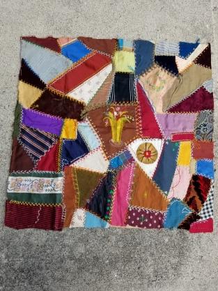 antique crazy quilt block 2