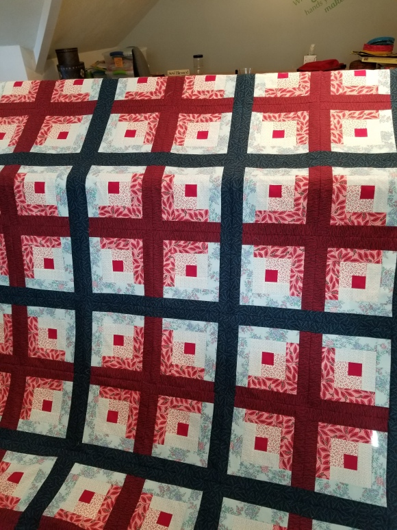 log cabin - quilt top