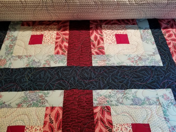 log cabin - quilting 2