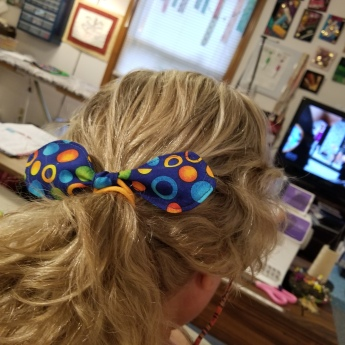 Hair bow in my hair 1